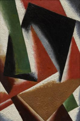Lyubov Popova, Painterly Architectonics, 1918, oil on cardboard, Dallas Museum of Art, General Acquisitions Fund and gifts from Mrs. Edward Marcus, James H. Coker and Ann Addison, Margaret Ann Bolinger, Natalie (Schatzie) and George T. Lee, Jr., Elizabeth B. Blake, and an anonymous donor, 1982.10