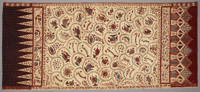 Woman's Kain Panjang (Skirt Cloth), 1930, Indonesia: Java, north coast, batik on commercial cotton, Dallas Museum of Art, gift of Mr. and Mrs. Jerry Bywaters in memory of Paul and Viola van Katwijk, 1982.284