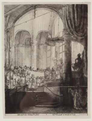 Rembrandt van Rijn, Medea, or The Marriage of Jason and Creusa, 1648, published by Jan Six, etching and drypoint on paper, anonymous gift, 1990.113