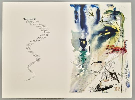 Salvador Dalí, A Caucus Race and a Long Tale, 1969, published by Random House of New York, 1969, lithograph, gift of Lynne B. and Roy G. Sheldon, 1999.183.5
