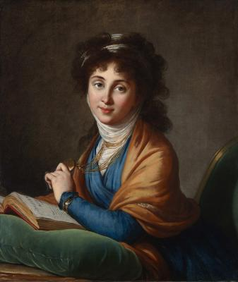 Elisabeth Louise Vigée-Lebrun, Portrait of Natalia Zakharovna Kolycheva, née Hitrovo, 1799, oil on canvas, Lent by the Michael L. Rosenberg Foundation, 29.2004.13