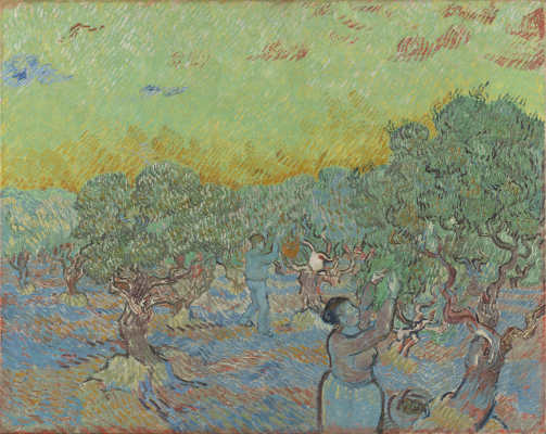 Vincent van Gogh, Olive Grove with Two Olive Pickers, 1889, oil on canvas, Collection Kröller-Müller Museum, Otterlo, The Netherlands. Photographer: Rik Klein Gotink