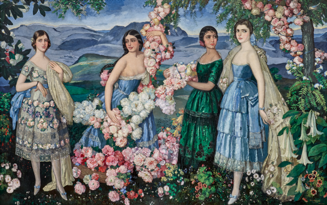 Alfredo Ramos Martinez, Flores Mexicanas, 1914-1929, oil on canvas, Missouri Historical Society Collections. © The Alfredo Ramos Martínez Research Project, reproduced by permission