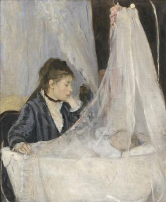 Berthe Morisot, The Cradle, 1872, oil on canvas, Musée d'Orsay, Paris, RF 2849 © Musée d'Orsay, Dist. RMN-Grand Palais  Patrice Schmidt