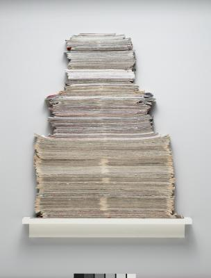 Annette Lawrence, Free Paper 12 / 05, 2006–2008, mixed media, Dallas Museum of Art, Charron and Peter Denker Contemporary Texas Art Fund, 2008.100.a–e.