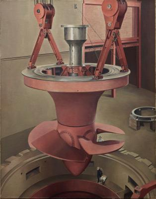 Charles Sheeler, Suspended Power, 1939, oil on canvas, Dallas Museum of Art, gift of Edmund J. Kahn, 1985.143