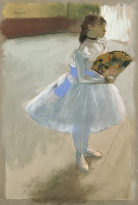 Edgar Degas, Dancer with a Fan, c. 1879, pastel, Dallas Museum of Art, The Eugene and Margaret McDermott Art Fund, Inc.