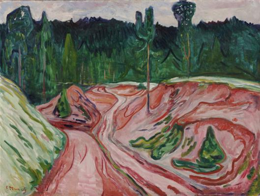 Edvard Munch, Thuringian Forest, 1904, oil on canvas, Dallas Museum of Art, The Eugene and Margaret McDermott Art Fund, Inc.