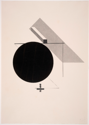 El Lissitzky, Untitled, 1923, Lithograph, Dallas Museum of Art, Foundation for the Arts Collection, gift of Mrs. James H. Clark, 1991.359.3.FA
