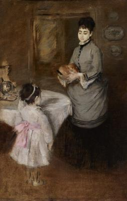 Eva Gonzalès, Afternoon Tea, c. 1874, oil on canvas, 2018.5.McD