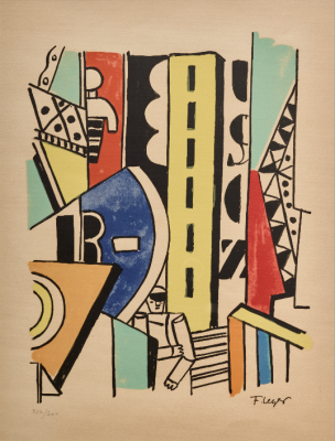 Fernand Léger, French, Man in the City, from the series The City, 1959, Lithograph, Dallas Museum of Art, bequest of Bill Booziotis, 2016.66.2