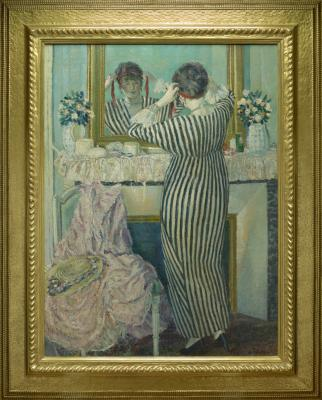 Frederick Carl Frieseke, Girl Arranging Her Hair, c. 1923, oil on canvas, The May Children's Trust