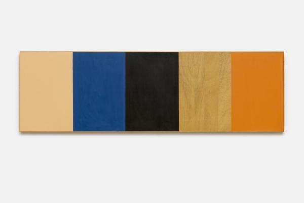Günther Förg, Farbfeld (Colorfield) 1986, acrylic on wood, Gayle and Paul Stoffel