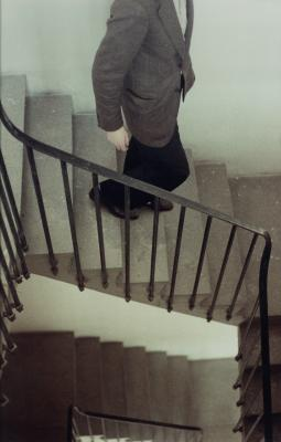 Günther Förg, Stairwell Munich, 1984/1998, Color photograph, Collection Deutsche Bank