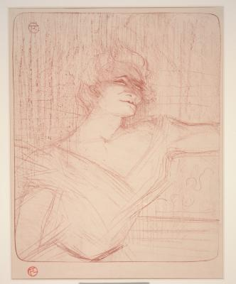 Henri de Toulouse-Lautrec, Yvette Guilbert (La Glu), 1898, color lithograph, Dallas Museum of Art, gift of Mr. and Mrs. Alfred L. Bromberg 1956.92