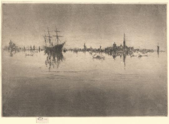 James McNeill Whistler, Nocturne, 1879/1880, etching and drypoint, National Gallery of Art, Gift of Mr. and Mrs. J. Watson Webb in memory of Mr. and Mrs. H.O. Havemeyer