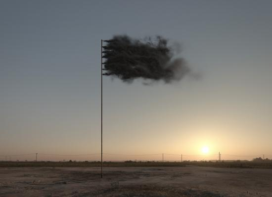 John Gerrard, Western Flag (Spindletop Texas), 2017, 2017, simulation, Courtesy the artist and Simon Preston Gallery, New York  & Thomas Dane Gallery, London