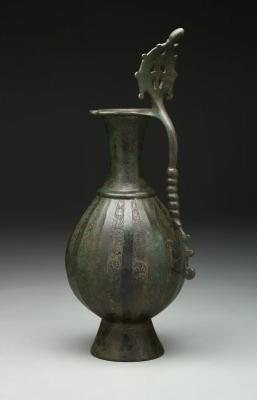Mesopotamia, Iraq, Ewer, late 7th–early 8th century, brass; cast and engraved, The Keir Collection of Islamic Art, The Keir Collection of Islamic Art on loan to the Dallas Museum of Art, K.1.2014.59