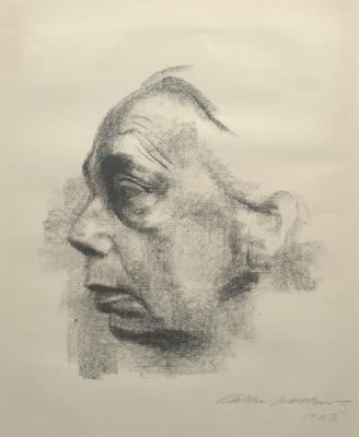 Kathe Schmidt Kollwitz, Self Portrait, 1927, lithograph, Dallas Museum of Art, gift of Mr. and Mrs. Alfred L. Bromberg 1953.37