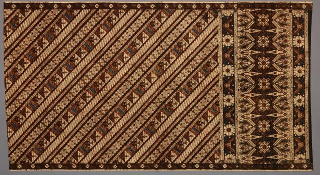 Man's Sarong, Indonesia, Asia, 1930, Batik on commercial cotton, Dallas Museum of Art, gift of Mr. and Mrs. Jerry Bywaters in memory of Paul and Viola van Katwijk 1982.285