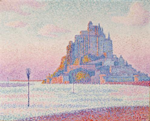 Paul Signac, Mont St. Michel, Setting Sun, 1897, oil on canvas, Dallas Museum of Art, The Eugene and Margaret McDermott Art Fund, Inc.