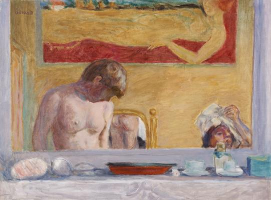 Pierre Bonnard, Young Woman at Her Toilette, 1916, oil on canvas, Dallas Museum of Art, The Eugene and Margaret McDermott Art Fund, Inc.