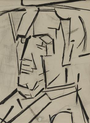 Piet Mondrian, Self-Portrait, 1942, pen, ink, charcoal, and gouache on paper, Dallas Museum of Art, Foundation for the Arts Collection, gift of the James H. and Lillian Clark Foundation 1982.23.FA