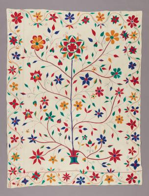 Quilt (kantha): tree of life, c. 1910–1920, cotton, Dallas Museum of Art, gift of Alta Brenner in memory of her daughter Andrea Bernice Brenner-McMullen, 1996.177