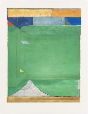 Richard Diebenkorn, Green, 1986, spitbite aquatint, soapground aquatint, and drypoint, National Gallery of Art, Eugene L. and Marie-Louise Garbaty Fund and Patrons' Permanent Fund, © The Richard Diebenkorn Foundation