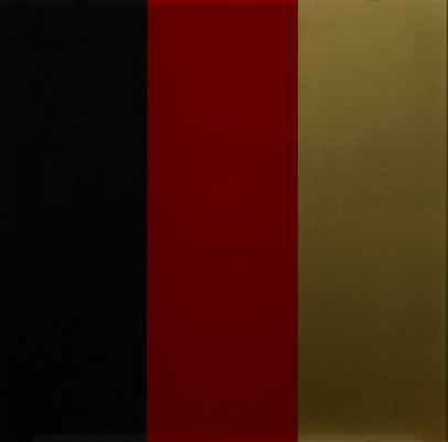 Gerhard Richter, Black, Red, Gold III (Schwarz, Rot, Gold III), 1999, synthetic resin paint behind glass, Dallas Museum of Art, Dallas Museum of Art League Fund, Roberta Coke Camp Fund, General Acquisitions Fund, TWO x TWO for AIDS and Art Fund, and the Contemporary Art Fund: Gift of Mr. and Mrs. Vernon E. Faulconer, Mr. and Mrs. Bryant M. Hanley, Jr., Marguerite and Robert K. Hoffman, Howard E. Rachofsky, Deedie and Rusty Rose, Gayle and Paul Stoffel, and two anonymous donors