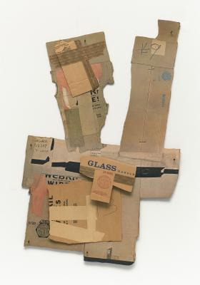 Robert Rauschenberg, Cardbird II, 1971, corrugated cardboard, tape, staples, offset lithography, and screenprint, National Gallery of Art, Gift of Gemini G.E.L. and the Artist