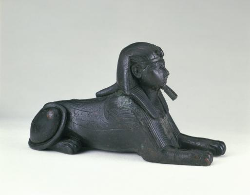 Sphinx of King Sheshenq, ca. 945-718 B.C.E., Bronze, Brooklyn Museum. Charles Edwin Wilbour Fund, 33.586
