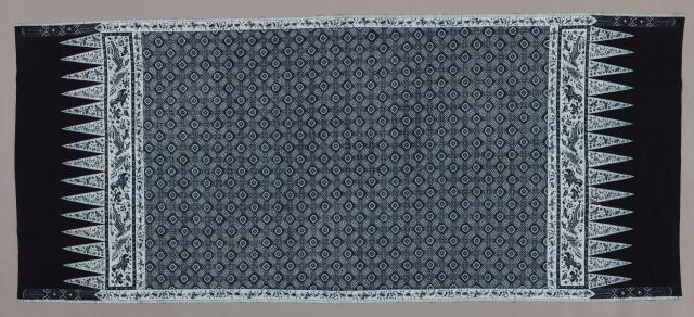 Wraparound skirt (kain panjang), Java, Indramayu, north coast, Indonesia, Asia, c. 1900, Batik on cotton, tulis, Dallas Museum of Art, Textile Purchase Fund 1989.44;