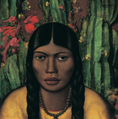 Alfredo Ramos Martínez, Mancacoyota, 1930, oil on cardboard, Colección Andrés Blaisten, Mexico. © The Alfredo Ramos Martínez Research Project, reproduced by permission