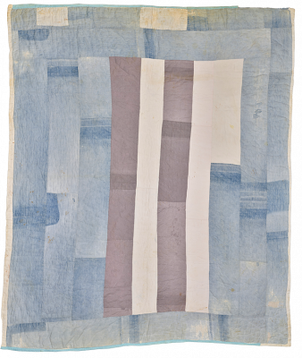 Amelia Bennet, Bars and Strips, 1929, cotton, denim, muslin, Discretionary Decorative Arts Fund and gift of the Souls Grown Deep Foundation from the William S. Arnett Foundation  © Amelia Bennett