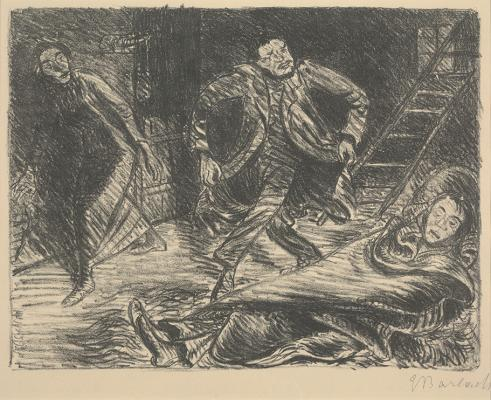 Ernst Barlach, Desperate Dance, from the play The Poor Cousin, published 1919, lithograph on paper, Dallas Museum of Art, gift of Mr. and Mrs. Alfred L. Bromberg, 1961.21