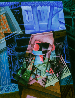 Juan Gris, Still Life before an Open Window, Place Ravignan, 1915, oil on canvas, Philadelphia Museum of Art, The Louise and Walter Arensberg Collection, 1950