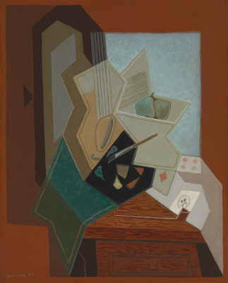 Image result for Juan Gris, The Painter's Window , 1925, oil on canvas, Baltimore Museum of Art: Bequest of Saidie A. May. Photography by Mitro Hood