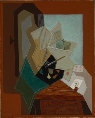 Juan Gris, The Painter's Window, 1925, oil on canvas, Baltimore Museum of Art: Bequest of Saidie A. May. Photography by Mitro Hood