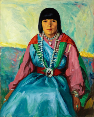 Robert Henri, Tom Po Qui (Water of Antelope Lake/Indian Girl/Ramoncita), 1914, oil on canvas, William Sr. and Dorothy Harmsen Collection at the Denver Art Museum