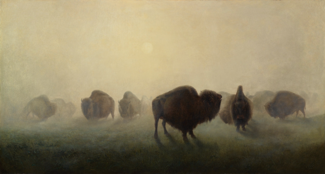 William Jacob Hays, Herd of Buffalo, 1862, oil on canvas, Denver Art Museum: Fred E. Gates Fund