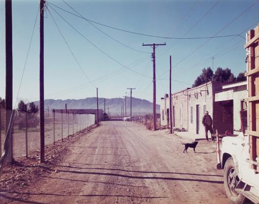 Stephen Shore, Presidio, Texas, February 21, 1975, negative 1975, print 1977, color photograph, Dallas Museum of Art, Polaroid Foundation grant, © Stephen Shore, courtesy 303 Gallery, New York