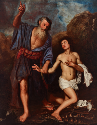 Attributed to Antonio Pereda y Salgado, The Sacrifice of Isaac, c. 1659, oil on canvas, Dallas Museum of Art, The Karl and Esther Hoblitzelle Collection, gift of the Hoblitzelle Foundation, 1987.36