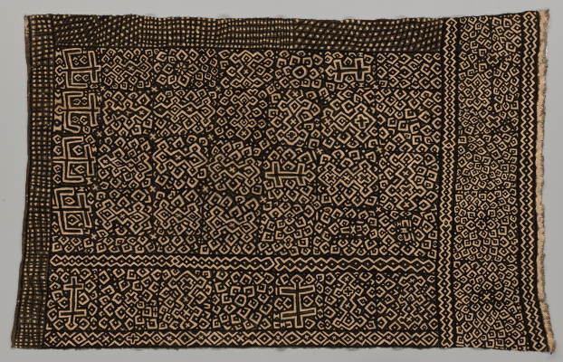 Bogolanfini wrapper, Mali, Bamana peoples, 1970–1989, cotton, natural dyes, Dallas Museum of Art, Textile Purchase Fund, 2021.10.2.1