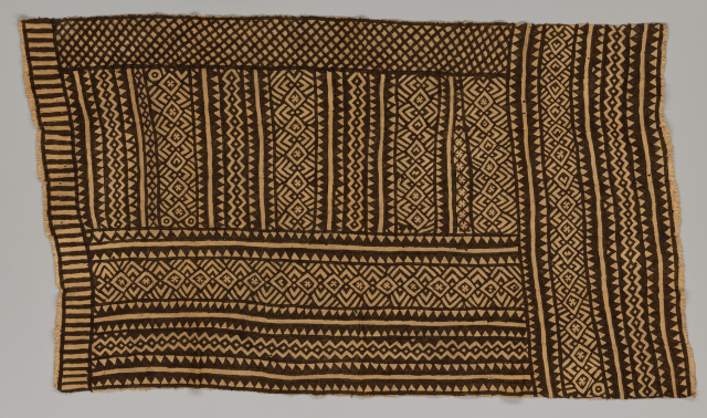 Bogolanfini wrapper, Mali, Bamana peoples, 1970–1989, cotton, natural dyes, Dallas Museum of Art, Textile Purchase Fund, 2021.10.2.5