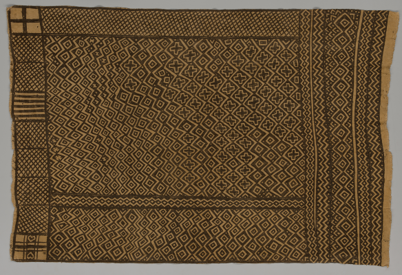 Bogolanfini wrapper, Mali, Bamana peoples, 1970–1989, cotton, natural dyes, Dallas Museum of Art, Textile Purchase Fund, 2021.10.2.6
