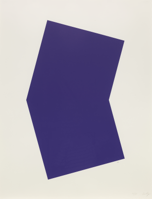 Ellsworth Kelly, Untitled, 2001, single-color lithograph, Dallas Museum of Art, bequest of William B. Jordan and Robert Dean Brownlee, 2019.72.31, © Ellsworth Kelly Foundation, Courtesy Matthew Marks Gallery