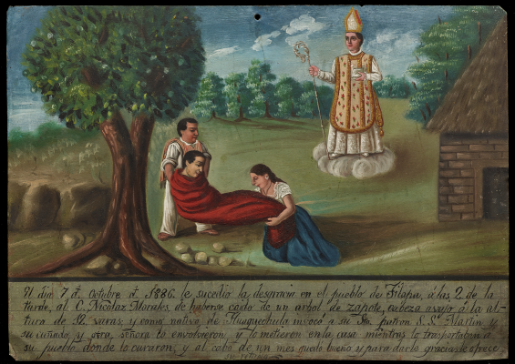 Ex-voto Dedicated to Saint Martin of Tours, 1886, Mexico, oil on tin, Dallas Museum of Art, gift of Mr. and Mrs. Stanley Marcus Foundation, 1961.84