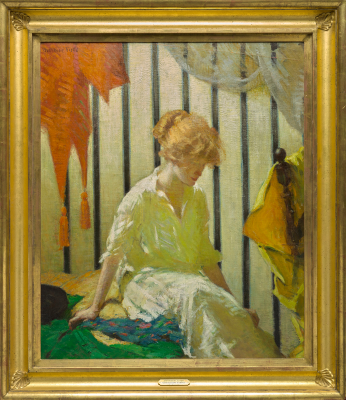 Gertrude Fiske, Contemplation, before 1916, oil on canvas, The Collection of Eleanor and C. Thomas May, Jr.