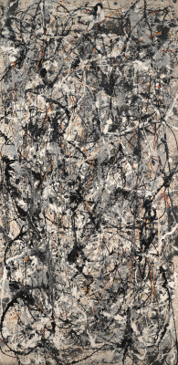 Jackson Pollock, Cathedral, 1947, enamel and aluminum paint on canvas, Dallas Museum of Art, gift of Mr. and Mrs. Bernard J. Reis, 1950.87, © 2020 The Pollock-Krasner Foundation / Artists Rights Society (ARS), New York